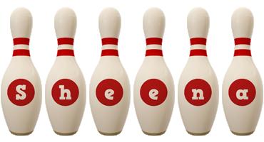 Sheena bowling-pin logo