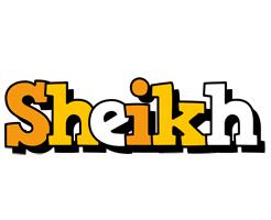 Sheikh cartoon logo
