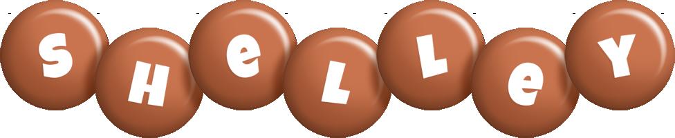 Shelley candy-brown logo