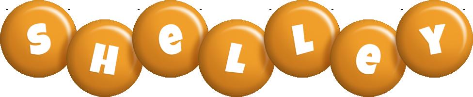 Shelley candy-orange logo