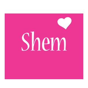 Shem love-heart logo
