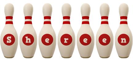Shereen bowling-pin logo
