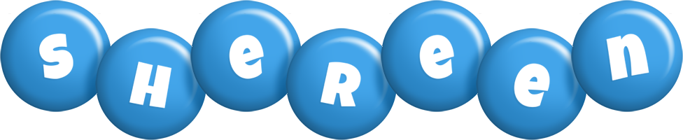 Shereen candy-blue logo