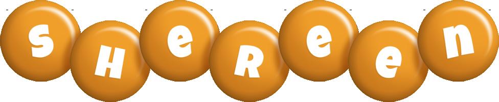 Shereen candy-orange logo