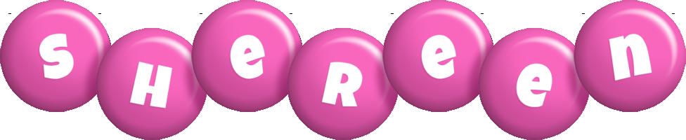 Shereen candy-pink logo