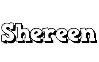 Shereen snowing logo