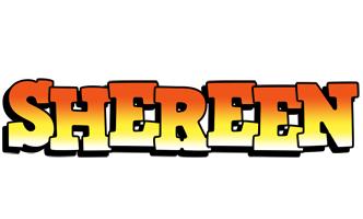Shereen sunset logo