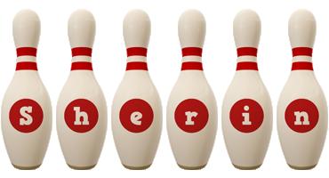 Sherin bowling-pin logo