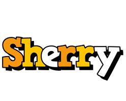 Sherry cartoon logo