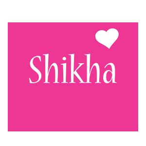 Shikha love-heart logo