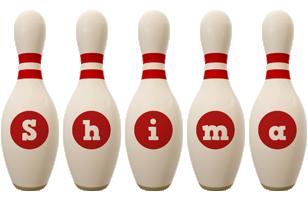 Shima bowling-pin logo