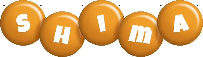 Shima candy-orange logo