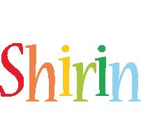 Shirin birthday logo