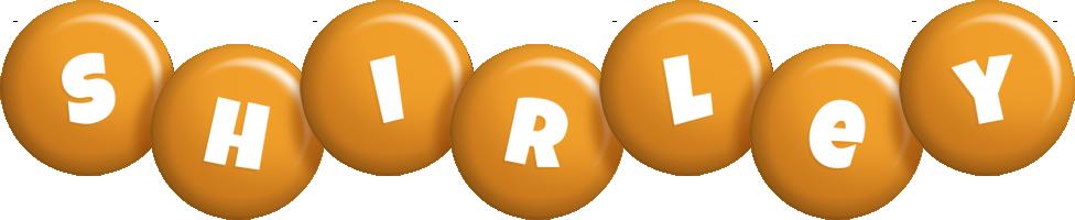 Shirley candy-orange logo