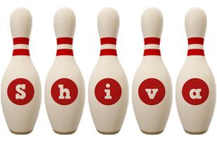 Shiva bowling-pin logo