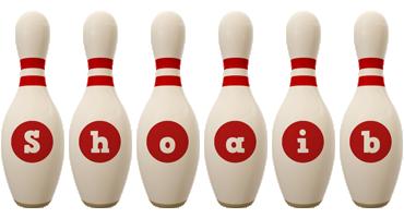 Shoaib bowling-pin logo