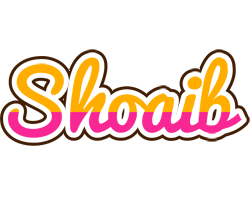 shoaib logo name logo generator smoothie summer birthday kiddo colors style shoaib logo name logo generator
