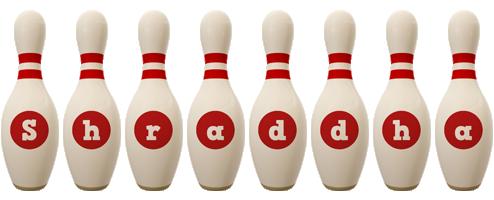 Shraddha bowling-pin logo
