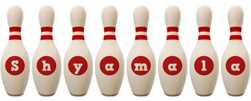Shyamala bowling-pin logo