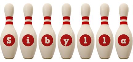 Sibylla bowling-pin logo