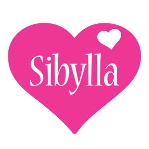 Sibylla love-heart logo