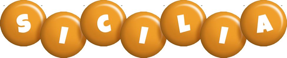 Sicilia candy-orange logo