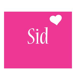 Sid love-heart logo