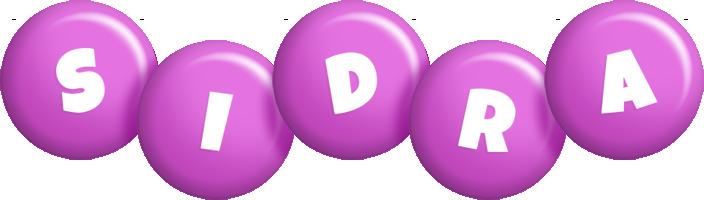 Sidra candy-purple logo