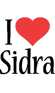 Sidra i-love logo
