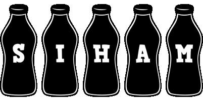 Siham bottle logo