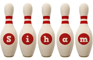 Siham bowling-pin logo