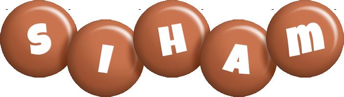 Siham candy-brown logo