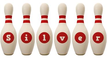 Silver bowling-pin logo