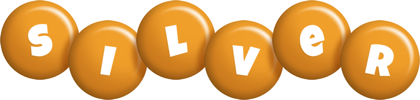 Silver candy-orange logo