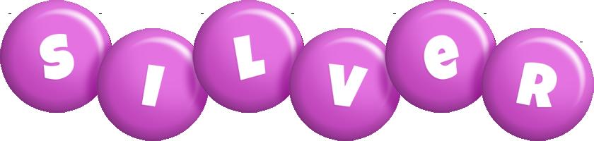 Silver candy-purple logo
