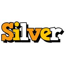 Silver cartoon logo