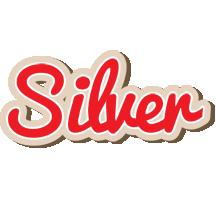 Silver chocolate logo