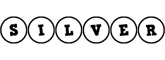 Silver handy logo