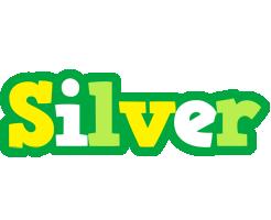 Silver soccer logo