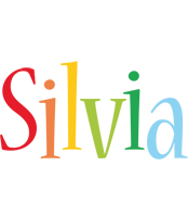 Silvia birthday logo
