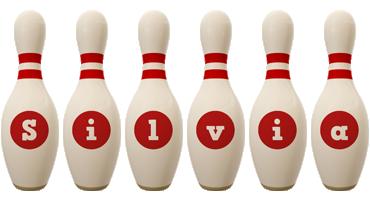 Silvia bowling-pin logo