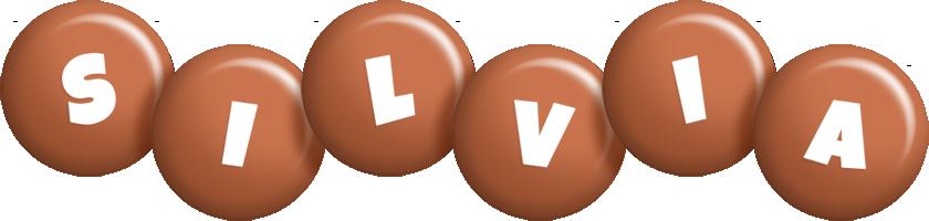 Silvia candy-brown logo