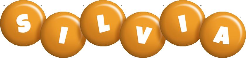 Silvia candy-orange logo
