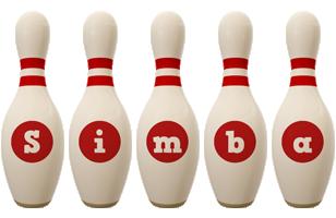 Simba bowling-pin logo