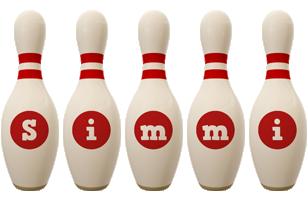Simmi bowling-pin logo