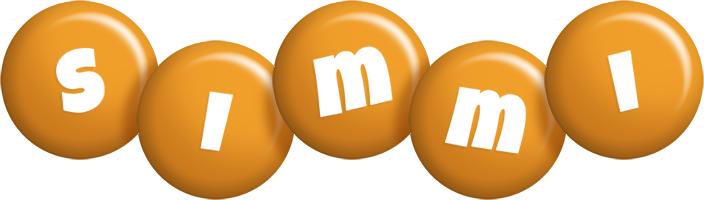 Simmi candy-orange logo