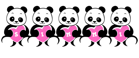 Simmi love-panda logo
