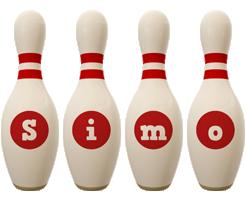 Simo bowling-pin logo