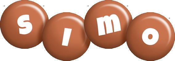 Simo candy-brown logo