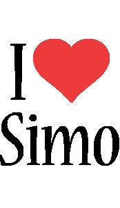 Simo i-love logo